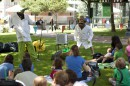Storytime at Burnside Park with Big Nazo in Providence, RI.