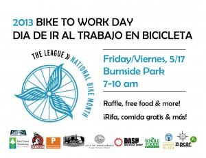 Bike to Work Day 2013 Flyer