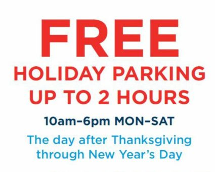 Providence offers holiday shoppers free parking