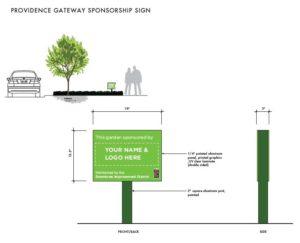 gateway landscaping sponsor sign