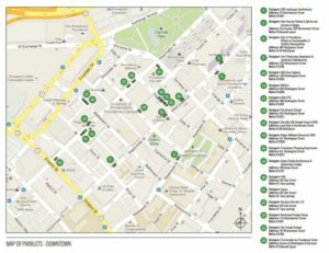 Downtown parking day map 9.19