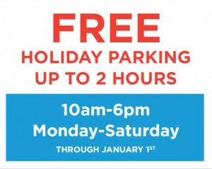 2014 holiday parking feature