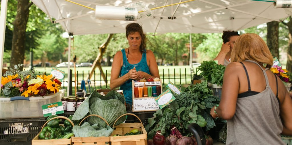 Downtown Farmers Market on Tuesdays through October 31st